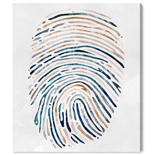 Amazon Brand – Rivet Multi-Color Canvas Fingerprint Wall Art, 20' x 24'