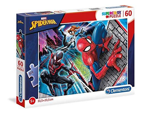 Clementoni 26048 Clementoni-26048-Supercolor Puzzel Spiderman-60 delen, meerdere kleuren