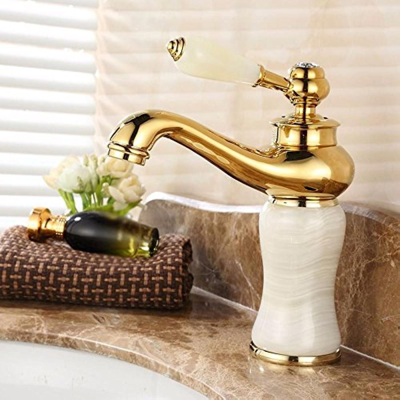 Kokeruup Faucet hot and Cold Jade Single Handle Single Hole Mixer Bathroom H