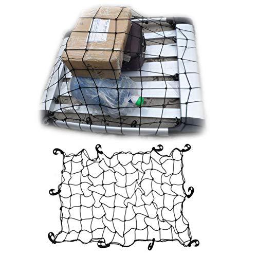 Lamptti Filet de Voiture Universel avec Crochets, Voiture de Bagages de Filet de Rangement, 120 * 80 cm, Crossbar de Voiture Toit Fixe Net