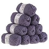 10 x 50g Filzwolle CHIMERA, Wolle zum Strickfilzen, Farbauswahl, Farbe:grauviolett