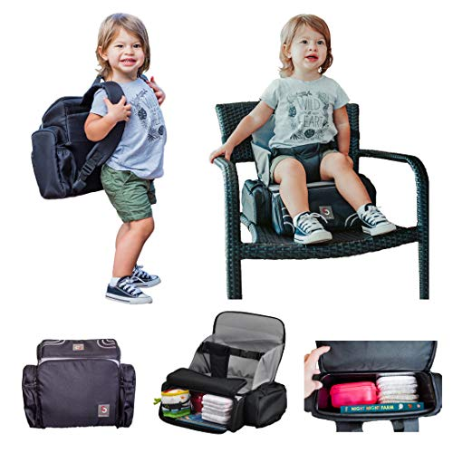 3 in 1 - Cozy Travel Booster Seat/Backpack/Diaper Bag for Your Toddler/Baby....