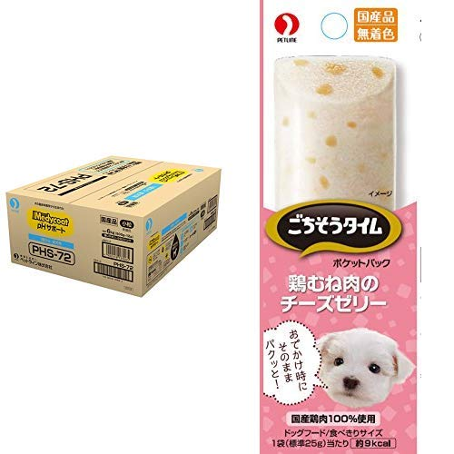 【セット買い】メディコート ドッグフード pHサポート 1歳から成犬用 チキン味 6kg + ごちそうタイム ドッグフード ポケットパック 鶏むね肉のチーズゼリー 100g(25g×4連)×6個
