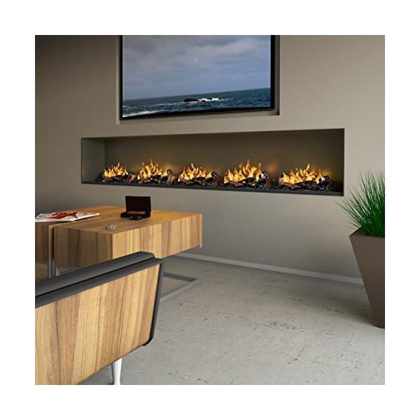 muenkel Diseño Wall Fire Electronic–Opti de chimenea Myst eléctrico: 2200mm–sin calefacción