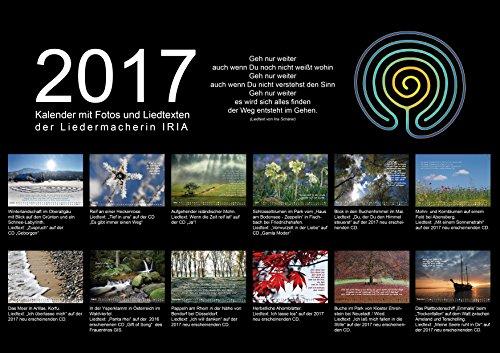 IRIA Fotokalender 2017 mit meditativen Texten, Größe A4 (297 x 210mm)