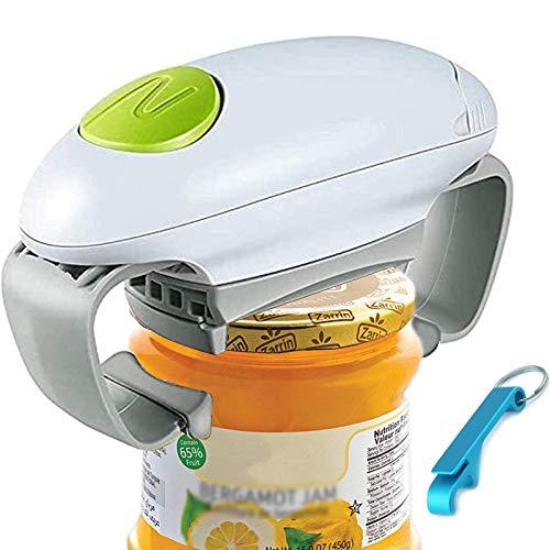 Apriscatole Elettrico Jar Opener, Ristorante Can Opener, Bordo Liscio Automatica Jar apriscatole per Gli individui, l'artrite e casalinga, apribottiglie per Mani artritiche
