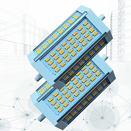 Bombillas LED R7S de Doble Extremo de 118 mm Luz de Enchufe Horizontal Regulable de 30 W (Reemplazo de Bombilla halógena J118 de 250 W) Proyector halógeno para Exteriores 3000-6000K(2 Piezas)