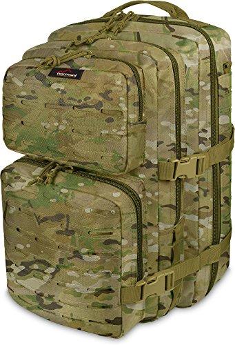 normani Wanderrucksack 50 Liter mit verstellbarem Schultergurt und Hüftgurt Farbe Multitarn