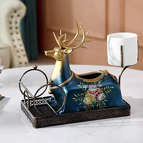 Ramingt-Home Tissue Box voor nachtkastje en tafel Europese Tissue Deksel Deksel Deksel met vaas servet doos