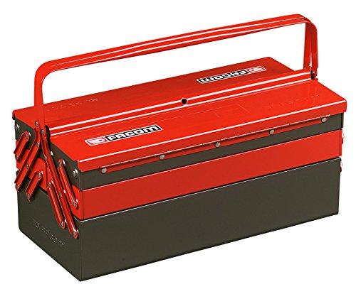 Facom BT.11PG Boite à outils 5 cases,Rouge et Noir