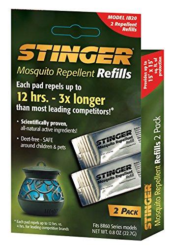 Stinger Mosquito Repellent Refills (2) Per box (IB20)