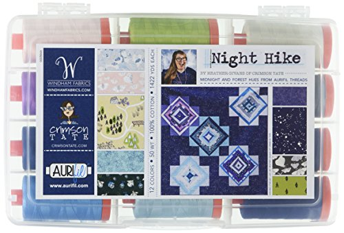 Best Price Aurifil USA Night Hike Heather Givans 50wt 12 Large Spools Thread Collection