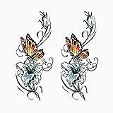 YLGG Etiquetas engomadas del Tatuaje de la Moda del Pensamiento, aptas para Las Mujeres, extraíbles