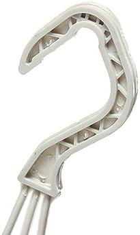 TOOGOO 5 Pcs White Plastic S Shape Hanger Hook for Home Clothing Baskets R
