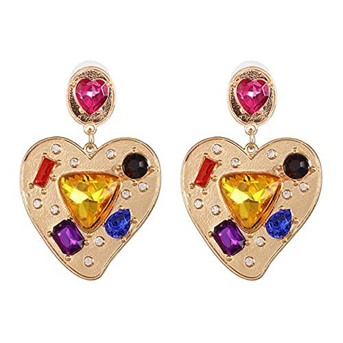 CXWK Pendientes Largos de Moda con Forma de Mariposa, Colgante de Cristal, Pendientes con Letras de Amor para Mujer, joyería de Moda