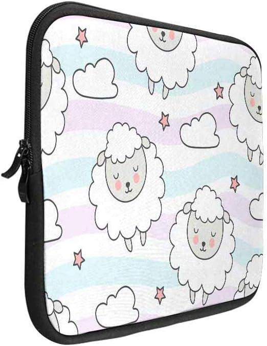 INTERESTPRINT Laptop Sleeve Cartoon Style Cute Panda Pattern Notebook Neoprene Pouch Case Bag 15.4 Inch 15.6 Inch