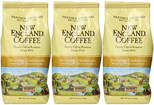 New England Coffee Chocolate Cappuccino 11 oz.- Ground - Pack of 3