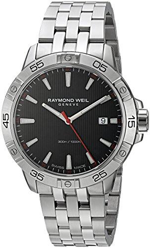 RAYMOND WEIL Reloj analógico de cuarzo suizo para hombre con correa de acero inoxidable 8160-ST2-20001