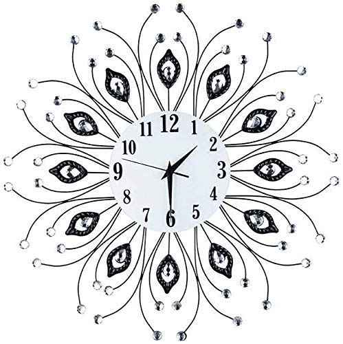 Cxmm Reloj Retro Estilo Europeo Moderno Reloj de Pared Retro Mudo Personalidad Creativa Diseño nostálgico Hueco Diseño de números Romanos Pantalla Estilo Europeo Reloj de Bicicleta Deco de Pared