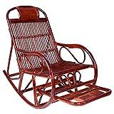 HHTD Rattan Woven Rocking Silla sillón reclinable con reposapiés, Sala de Estar Sencilla Sala de Estar jardín Ocio Silla Perezosa.