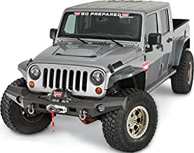 WARN 101420 Elite Series Full-Width Front Bumper for Jeep JK Wrangler, Without Grille Guard Tube