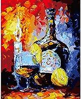 NC56 子供と大人のためのデジタル絵画DIYアクリル絵画キットブラシ付きレモン酒家の装飾ギフト