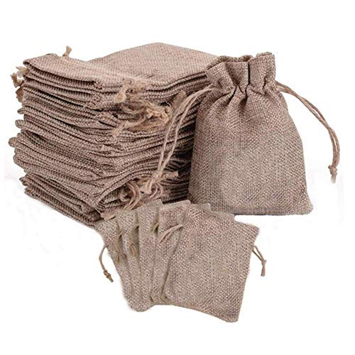 Drawstring Burlap Bags with Store Gift Bags Topwell...