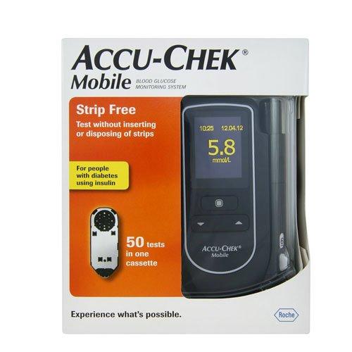 Accu-Chek Mobile - Monitore de glucosa en sangre, color negro