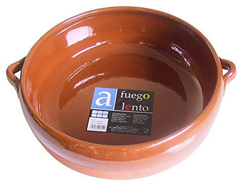 A Fuego Lento pentola bombata Forno, Terracotta, Miele, 28cm