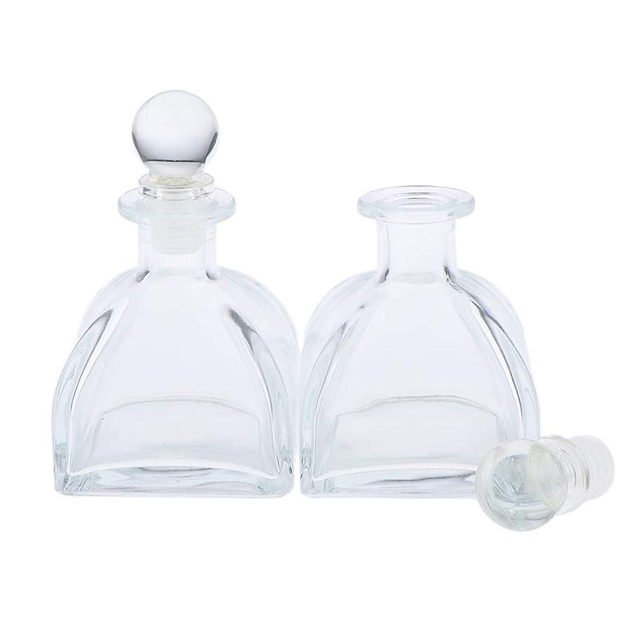 機知に富んだパイル抵当P Prettyia 2個 香水ディフューザーボトル DIY リードエッセンシャルオイル ガラスディフューザー瓶 3サイズ選べ - 100ミリリットル