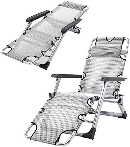PandaG - Tumbona plegable, no pesada, silla de ocio, silla de camping, sillas pesadas para asientos al aire libre, silla antigravedad