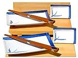Set da sushi giapponese per due persone in ceramica, motivo: foglie di bambù di colore bl...
