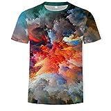ASHGNV Inyección de Tinta de Color Camiseta para Hombre con...
