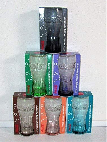 Coca-Cola, cristal, edición limitada, juego de 6, Mc Donalds / 2020 / Austria / Nuevos vasos de colección / Colaglas/Coca-Cola