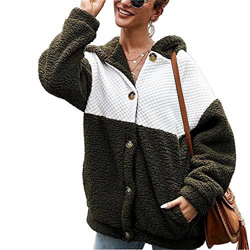 UMore Damen Mantel Ladies Hooded Teddy Coat Faux Für Lose Langarm Outwear Tasche Winterjacke Mode Kurz Coat