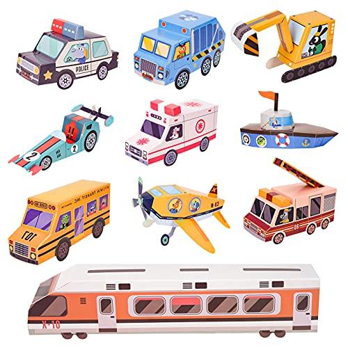 Presentes para Niños Edad 4-10,3-12 años Niños Niñas Niños Juguetes Regalos Artes y manualidades Juegos para niños de 7-13 años de edad Kits de modelos de papel de origami 3D para niños Niños Niñas