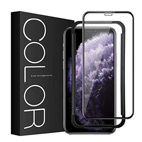 G-Color Protector Pantalla de iPhone 11 Pro Max/ iPhone XS MAX ( 6.5 in' ), [3D Cobertura] [Anti-Choque] Protector de Pantalla para iPhone XS MAX/ iPhone 11 Pro Max Cristal Vidrio Templado