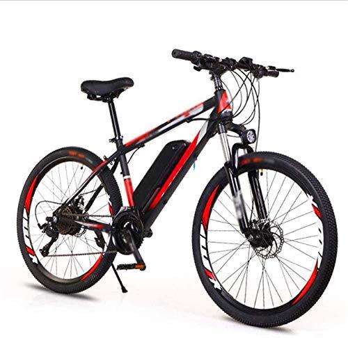 Bicicleta Eléctrica Plegable Bicicleta eléctrica de nieve, bicicleta eléctrica de 26 pulgadas, bicicletas de 36v10a Bicicletas Doble disco Freno LED Faros adaptativos de ciclismo al aire libre Viajes