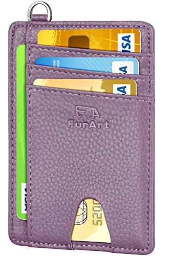 FurArt Schlank Kreditkartenetui,RFID-Blockierung Portemonnaie,7 Fächer,Minimalistisch Kreditkarten Kartenetui für Herren und Damen