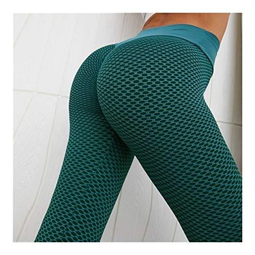 LUOSI Polainas De Las Mujeres De Cintura Alta Dot Aptitud Leggins Damas Ropa Deportiva Mujer Alta Dilatación De Las Cuerdas Pantalones Casuales Leggings (Color : Green, Size : S)