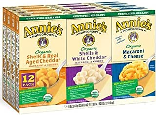 Annie's Organic Mac & Cheese Variety Pack (6 oz. box, 12 ct.)
