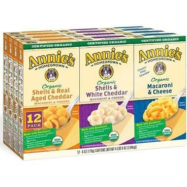 Annie#039s Organic Mac amp Cheese Variety Pack 6 oz box 12 ct