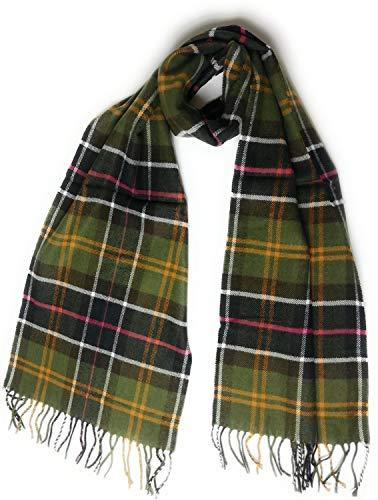 KGM Accessories - Bufanda de cuadros escoceses de cachemir muy suave – Bufandas de tartán para hombres y mujeres Verde verde oscuro Talla única