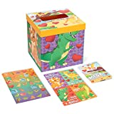 Valentines Day Cards for Kids and Mailbox (Dinosaur Theme), Valentine Mailbox Set for Classroom Exchange Including 32 Student Valentine Cards, 1 Teacher Card, 35 Stickers & 1 Mail Box