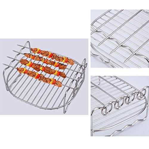 Antistick RVS BBQ Accessoire Kip Eend Houder Rek Grill Stand Roosteren Rib Dubbele Laag Rek Skewers Bakplaat