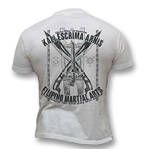Dirty Ray Arts Martiaux MMA Filipino Kali Escrima Arnis t-shirt homme DT22 (M)