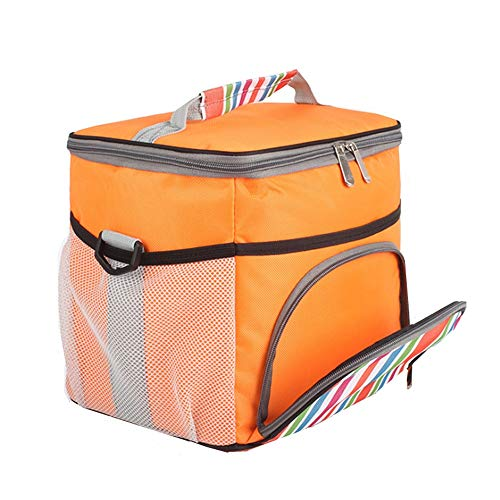 JKK Extérieur Portable Extra Large Isolation Thermique Glacière Sac De Glace Pique-Nique Lunch Box Trips Réfrigérateur Camping Pique-Nique Accessoires Sac 14.5L Orange