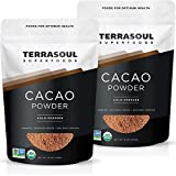 Terrasoul Superfoods Raw Organic Cacao Powder, 2 Lbs (2 Pack) - Raw | Keto | Vegan