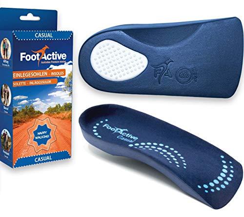 FootActive CASUAL Bei Fersensporn und Fußproblemen, Blau, 35 - 38 (XS)