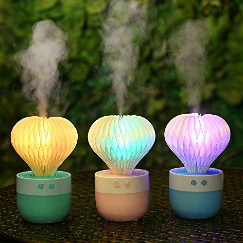 Ledlamp creatieve ballon modellering spray led nachtlicht USB aangedreven indoor slaapkamer mini luchtbevochtiger auto luchtbevochtiger